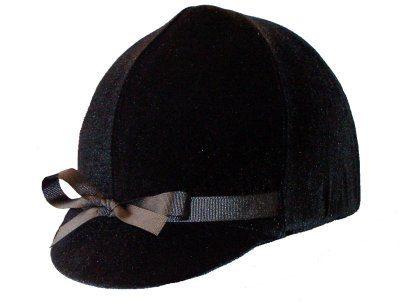 Equestrian-Riding-Helmet-Cover-Black-Velvet-0